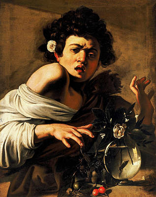 Caravaggio Painting - Boy Bitten By A Lizard by