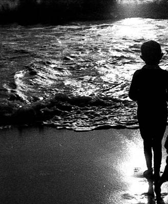 Art Print featuring the photograph Boy By The Sea by Estate of Frank Dohnalek