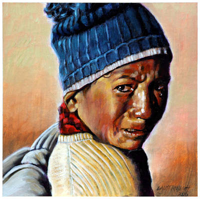 Crying Painting - Boy Crying by John Lautermilch