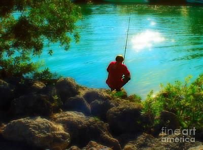 Boy Fishing Art Print by Andres LaBrada
