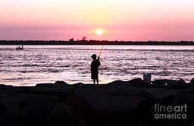Photograph - Boy Fishing by John Rizzuto