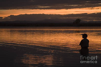 Steven Krull Royalty-Free and Rights-Managed Images - Boy Fishing by Steven Krull