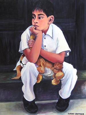 Painting - Boy From Janitzio by Susan Santiago
