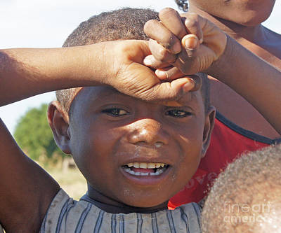 Photograph - boy from Madagascar 6 by Rudi Prott
