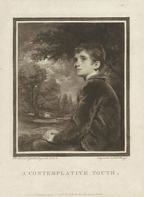 Howard Drawing - Boy In A Landscape, Charles Howard Hodges by Charles Howard Hodges And Johannes Raphael Smith