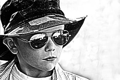 Boy In Aviators Art Print