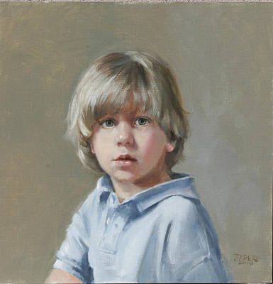 Painting - Boy In Blue by Chris  Saper