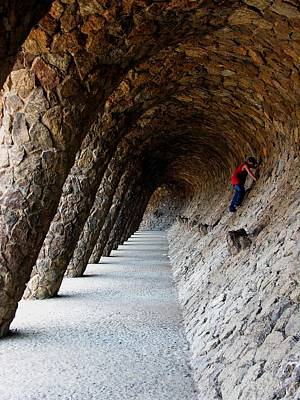 Photograph - Boy In Palau Guell by Jacqueline M Lewis