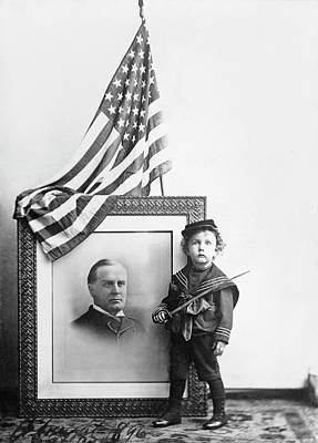 William Mckinley Painting - Boy In Sailor Uniform Standing by Stocktrek Images
