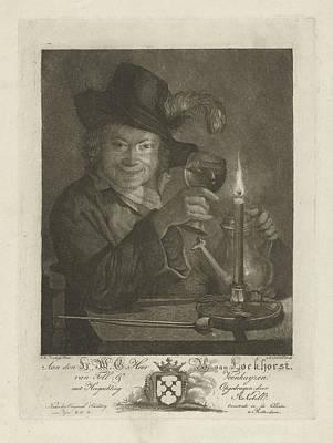 Boy Near Candlelight, Anna Kobell Art Print by Anna Kobell