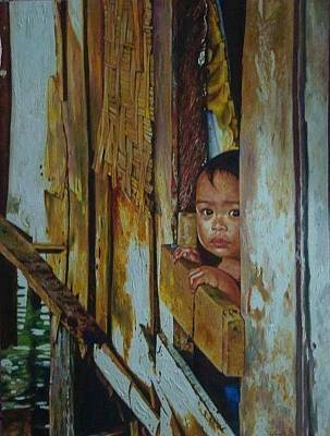 Social Commentary Painting - Boy Of Rio Hondo by Edwin Jumalon