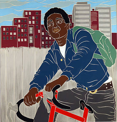 Mixed Media - Boy On A Bike by Martha Rucker