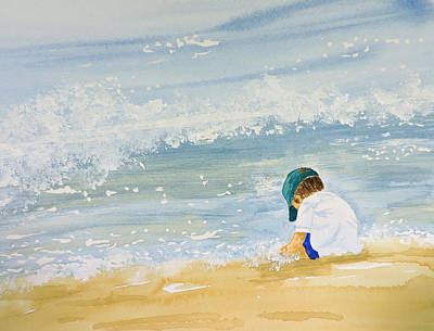 Painting - Boy On The Beach by Carol Bruno