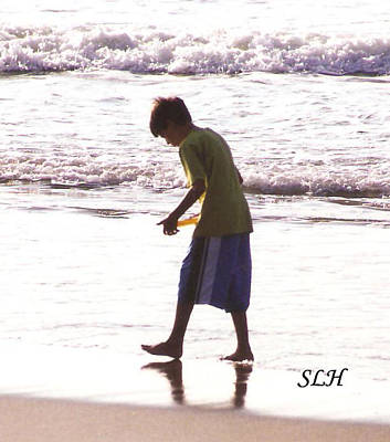 Photograph - Boy On The Beach by Lee Hartsell