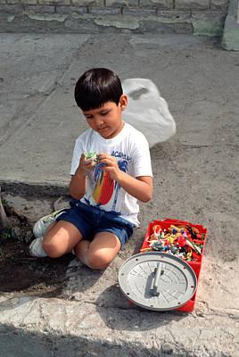 Boy Playing Art Print by Mark Goebel