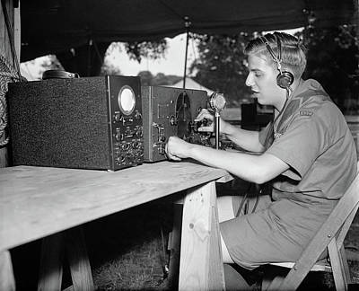 Photograph - Boy Scouts Radio, 1937 by Granger