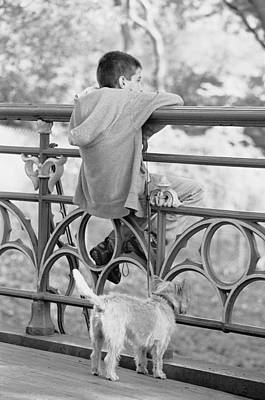 Photograph - Boy With Dog by Dave Beckerman
