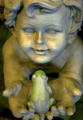 Photograph - Cupid With Frog by Carolyn Jacob