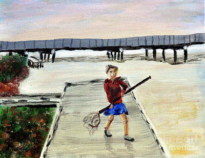 Painting - Boy With Net by Jock McGregor