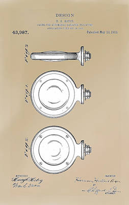 Drawing - Boyce Motometer Patent by Jack Pumphrey