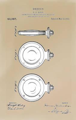Drawing - Boyce Motometer Patent by Jack Pumphrey
