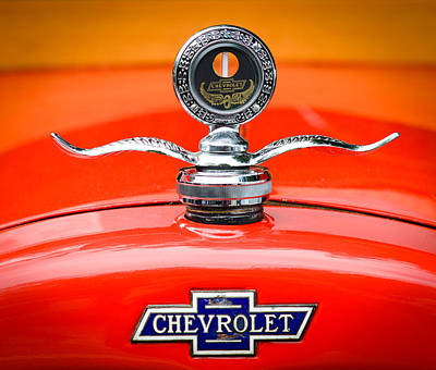 Photograph - Boyce Motormeter And Cheverolet Badge by Ronda Broatch