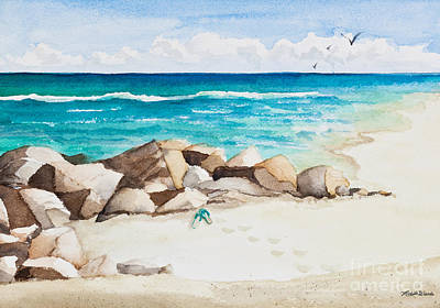 Boynton Beach Inlet Watercolor Original by Michelle Wiarda