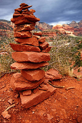 Photograph - Boynton Vortex Cairn by Daniel Woodrum