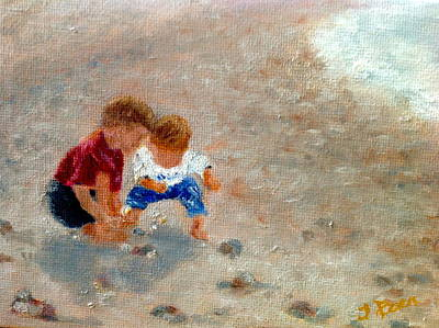 Painting - Boys At Play by Tracey Peer