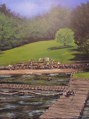 Montgomery Bell State Park Painting - Boys Club Series-waterfront by Dale Smith