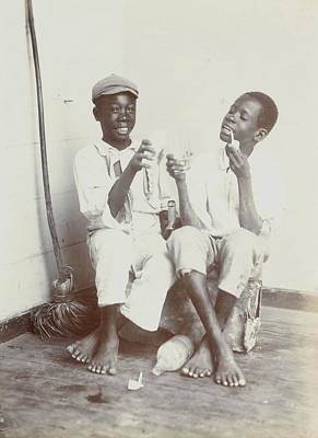 West Indies Drawing - Boys From West Indies, Anonymous by Artokoloro