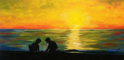 Painting - Boys In The Sunset by Vikki Angel
