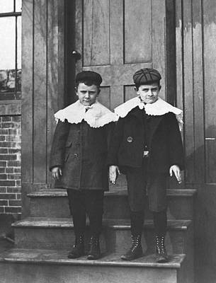 Teenagers Photograph - Boys In Their Sunday Best by Underwood Archives