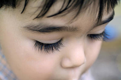 Ecu Photograph - Boy's Lashes by Susan  Degginger