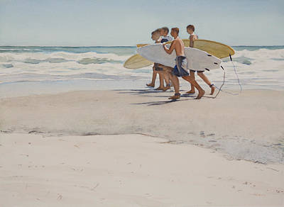 Surfing Art Painting - Boys Of Summer by Christopher Reid