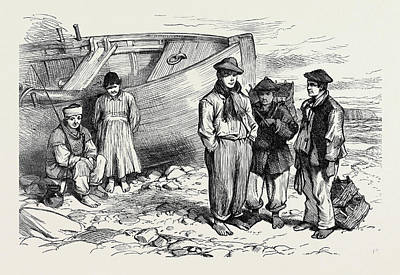 Boys Of The Claddagh Galway 1873 Art Print