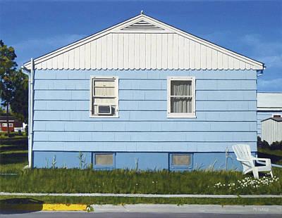 Hyperrealism Painting - Bozeman House Three by Michael Ward