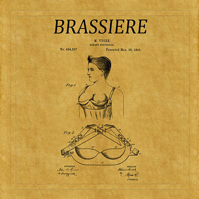 Photograph - Bra Patent 1 by Andrew Fare
