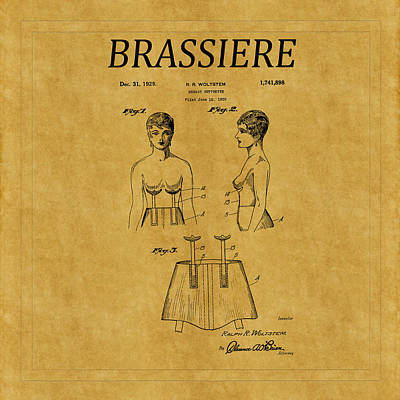 Photograph - Bra Patent 15 by Andrew Fare