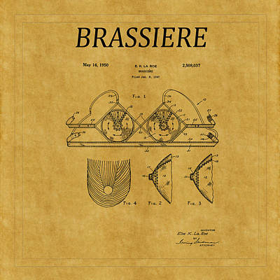 Photograph - Bra Patent 19 by Andrew Fare