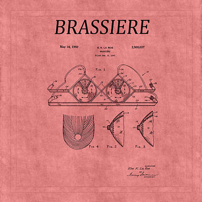 Photograph - Bra Patent 21 by Andrew Fare