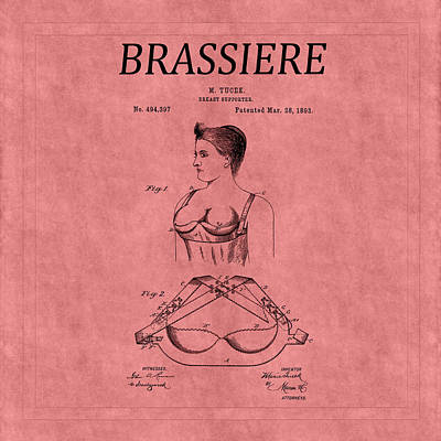 Photograph - Bra Patent 3 by Andrew Fare