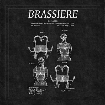 Photograph - Bra Patent 6 by Andrew Fare