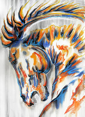 Horse Art Mixed Media - Brabus by J- J- Espinoza