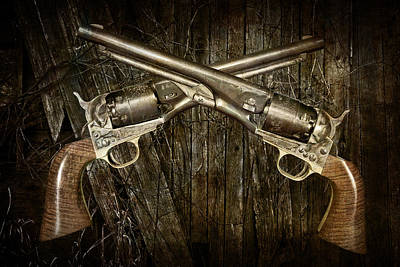 Police Art Photograph - Brace Of Colt Navy Revolvers by Randall Nyhof