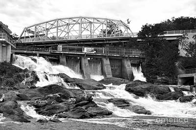 Photograph - Bracebridge Hydro Waterfalls by Les Palenik