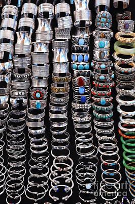 Bracelets At Anjuna Market Art Print by Robert Preston