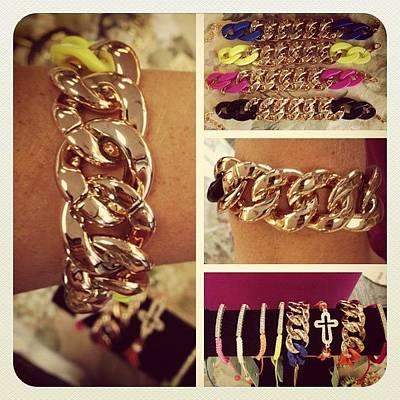 Jewelry Photograph - #bracelets #jewelry #costumejewelry by Kristin Hecker