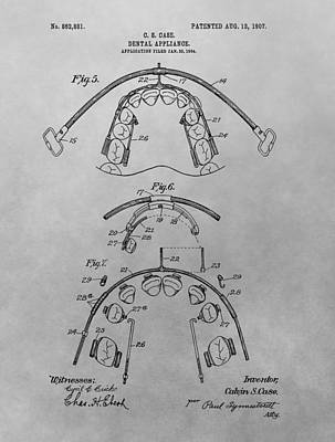Drawing - Braces Patent Drawing by Dan Sproul