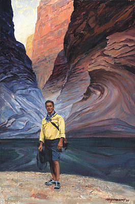 Colorado River Painting - Brad At Supai Formation by Don  Langeneckert